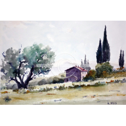 Maison cyprès
